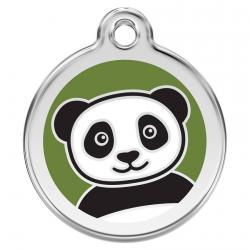 Red Dingo Dog ID Tag Panda Medium