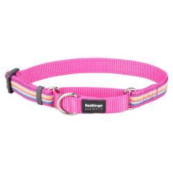 Red Dingo Horizontal Stripes Hot Pink Medium Martingale Collar