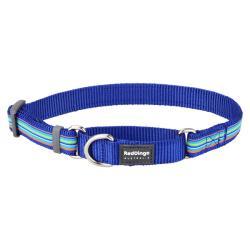 Red Dingo Horizontal Stripes Dark Blue Large Martingale Collar