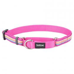 Red Dingo Horizontal Stripes Hot Pink Large Martingale Collar