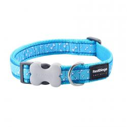 Red Dingo Flying Bones Turquoise Small Dog Collar