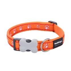 Red Dingo Desert Paws Orange Medium Dog Collar