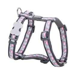 Red Dingo Flamingo Grey XS Dog Harness