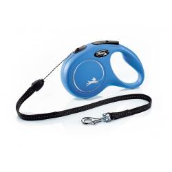 Flexi classic cord long small blue 8 meter