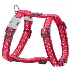 Red Dingo Flying Bones Red Small Dog Harness