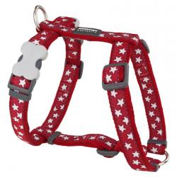 Red Dingo Stars Red Large Dog Harness