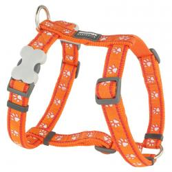 Red Dingo Desert Paws Orange Large Dog Harness