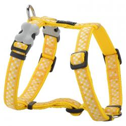 Red Dingo Gingham Yellow Small Harnais