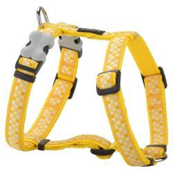 Red Dingo Gingham Yellow Medium Harnais