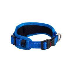 Rogz Utility Landing Strip Blue Padded Dog collar - XXL
