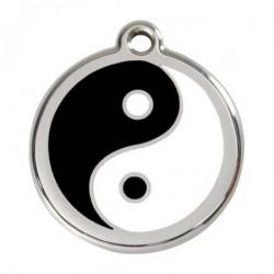 Red Dingo Dog ID Tag Yin Yang Small