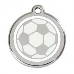 Red Dingo Dog ID Tag Football Medium