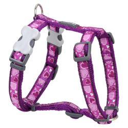 Red Dingo Breezy Love Purple Medium Dog Harness
