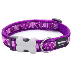 Red Dingo Breezy Love Purple Medium Dog Collar