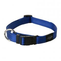 Rogz Utility Fanbelt Blue Dog collar - Large