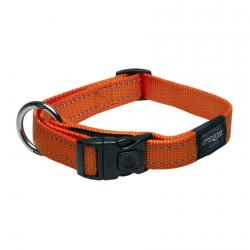Rogz Utility Fanbelt Orange Collar - Large