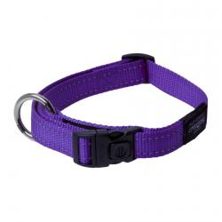 Rogz Utility Fanbelt Purple Dog collar - Large