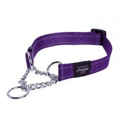 Rogz Utility Fanbelt Purple Collar de ahorque - Large