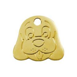 Red Dingo Dog ID Tag Happy Dog Face Small FB
