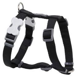 Red Dingo Black Large Dog Harness