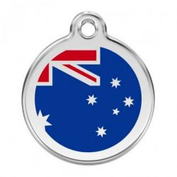 Red Dingo Dog ID Tag Australian Flag Small