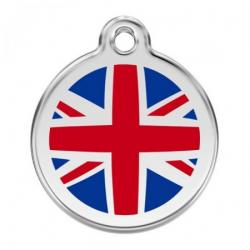 Red Dingo Dog ID Tag UK Flag Medium