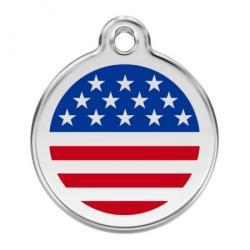 Red Dingo Medagliette US Flag Medium