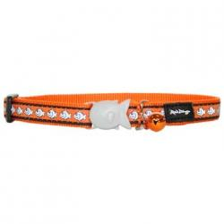 Red Dingo Reflective Cat Collar orange