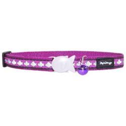 Red Dingo Reflective Katzenhalsband purple