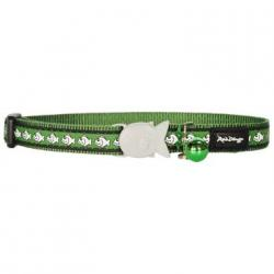 Red Dingo Reflective Collier pour chat green