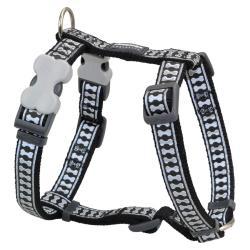 Red Dingo Reflective Black Medium Dog Harness