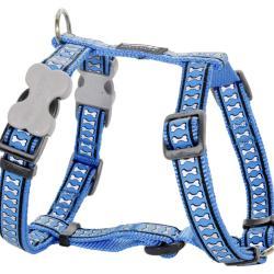 Red Dingo Reflective Medium Blue Large Dog Harness