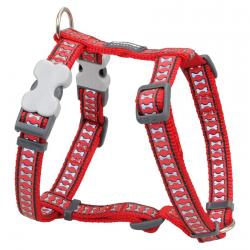 Red Dingo Reflective Red Large Dog Harness