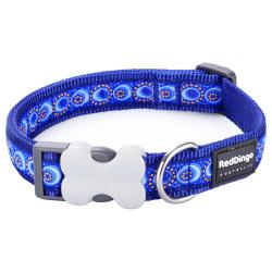 Red Dingo Cosmos Blue Medium Dog Collar