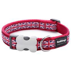 Red Dingo Union Jack Large Dog Collar