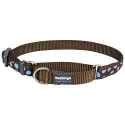 Red Dingo Blue Spots Brown Large Collar de ahorque