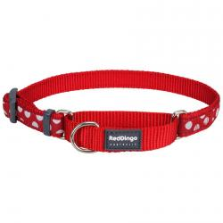 Red Dingo White Spots Red Large Martingale Collar