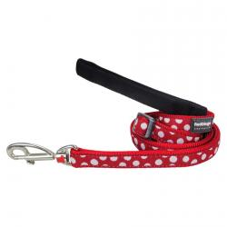 Red Dingo White Spots Red dog lead 100-180 cm Large
