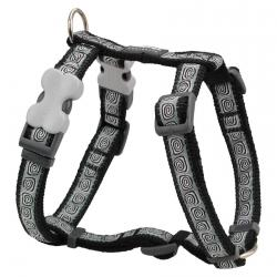 Red Dingo Hypno Black Large Dog Harness