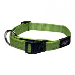 Rogz Utility Fanbelt Lime Dog collar - Large