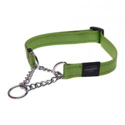 Rogz Utility Fanbelt Lime Half-Check Collar - Large