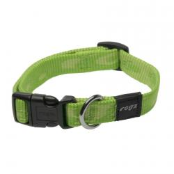 Rogz Alpinist Matterhorn Lime Dog collar - Medium