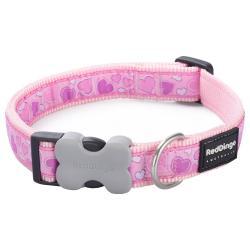Red Dingo Breezy Love Pink Medium Dog Collar