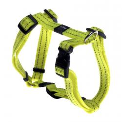Rogz Utility Snake Dayglo Yellow Medium Dog Harness