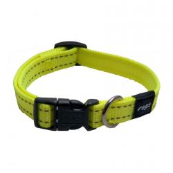 Rogz Utility Snake Dayglo Yellow Dog collar - Medium