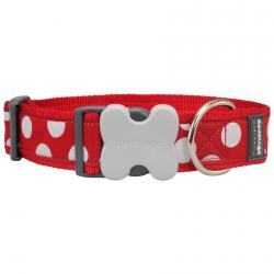 Red Dingo White Spots Red Giant Short Dog Collar