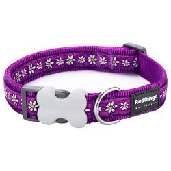 Red Dingo Daisy Chain purple Medium Dog Collar