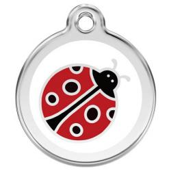 Red Dingo Dog ID Tag Ladybug Small
