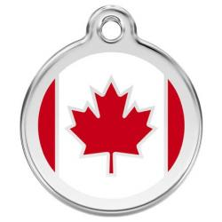 Red Dingo Dog ID Tag Canada Flag Small