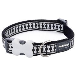 Red Dingo Reflective Black Large Dog Collar